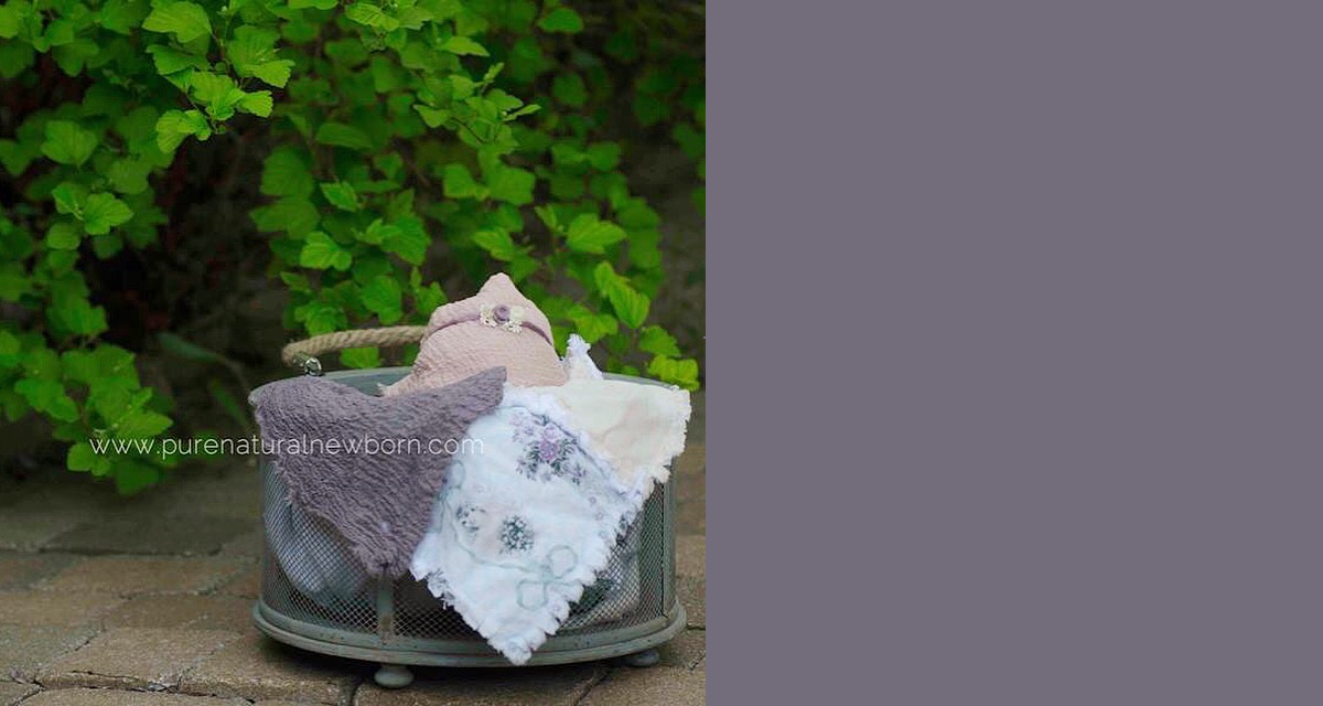 outdoor baby photos gatineau ottawa pure natural newborn diy rag quilt sage eggplant vintage purple tieback