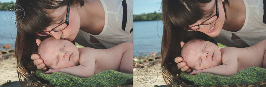 outdoor ottawa baby photos gatineau park jacques cartier beach newborn photography pure natural organic