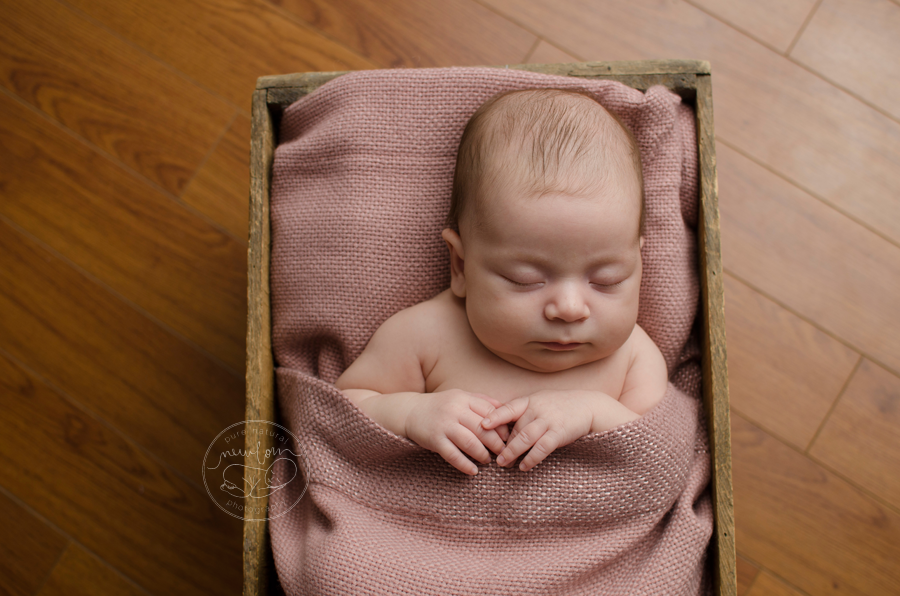7 weeks new, Athena-Newborn-Photography-Session-Ottawa-Baby-Photographer-wood-floor-backdrop-antique-crate-sleepy-time-vintage-pink-dusty-rose-bed