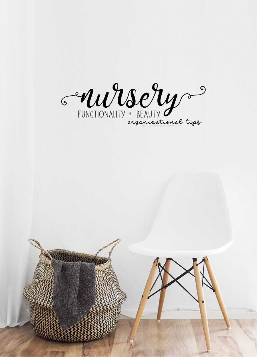 setting-up-a-functional-nursery laundry ikea blanket grey white chair curtain wall art